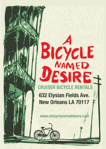 A bicyle named desire. New Orleans
